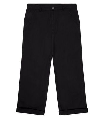 Black Wide Leg Trousers New Look