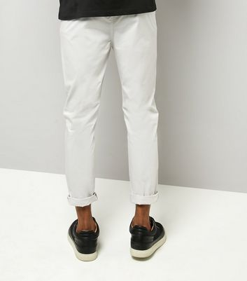 Pale Grey Woven Joggers New Look