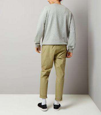 Khaki Woven Joggers New Look