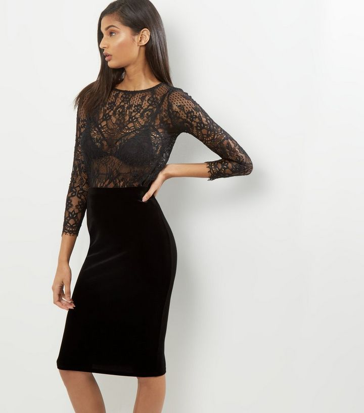nice shoes buy online top-rated discount Black Velvet Pencil Midi Skirt Add to Saved Items Remove from Saved Items