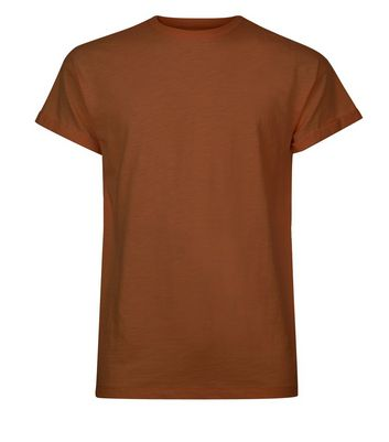 Tan Cotton Short Sleeve T-Shirt New Look
