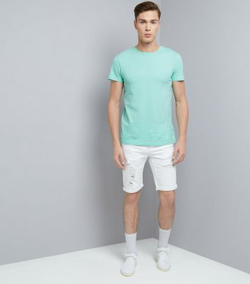 Mint Green Crew Neck T-Shirt New Look