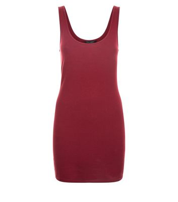 Burgundy Longline Vest New Look