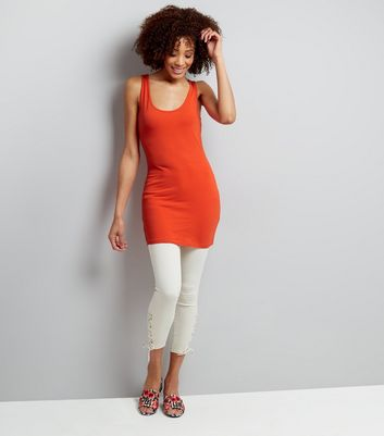 Orange Longline Vest New Look