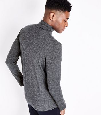 Grey Roll Neck Long Sleeve Top New Look