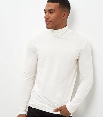 Cream Roll Neck Long Sleeve Top New Look