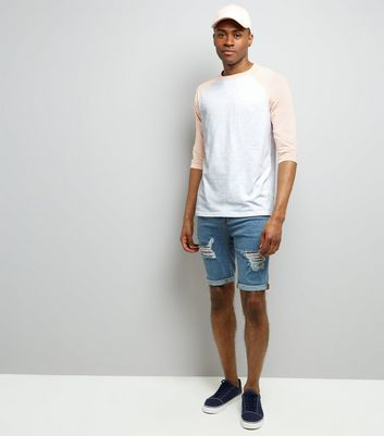 Pink 3/4 Raglan Sleeve T-Shirt New Look