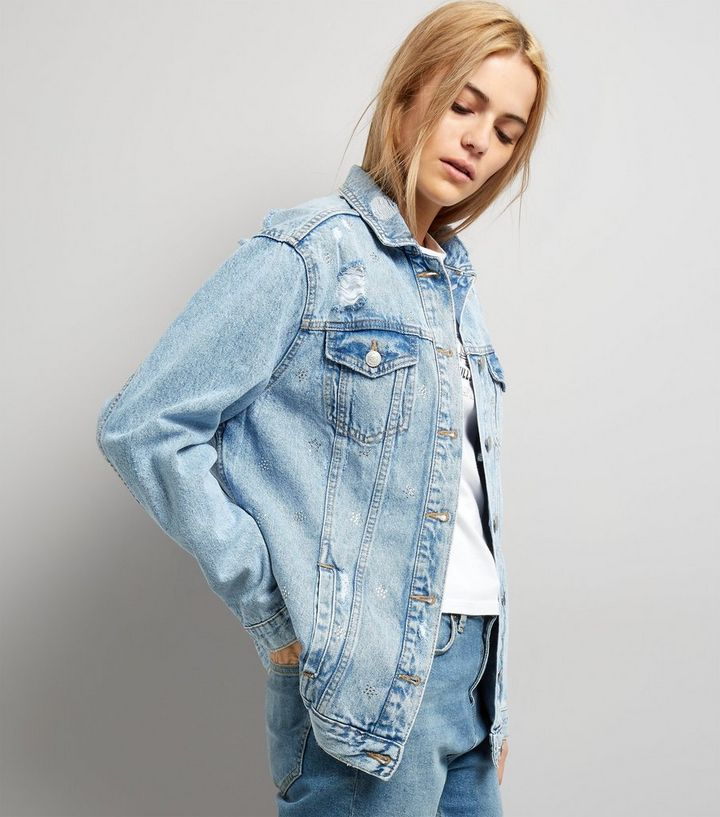 a61a6bf467 Pale Blue Oversized Denim Jacket | New Look