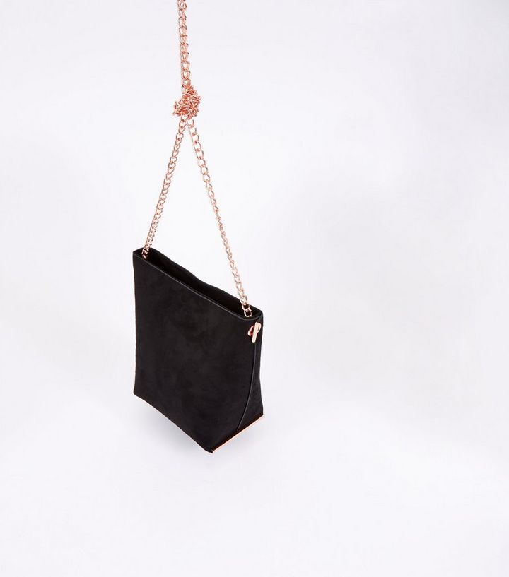 30dd469c36 ... Handbags · Black Suedette Mini Bucket Chain Shoulder Bag. ×. ×. ×. Shop  the look