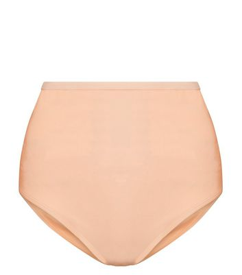 Peach High Waist Bikini Briefs New Look