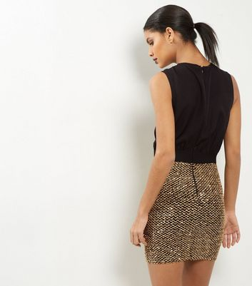 AX Paris Black Sequin 2 in 1 Dress New Look
