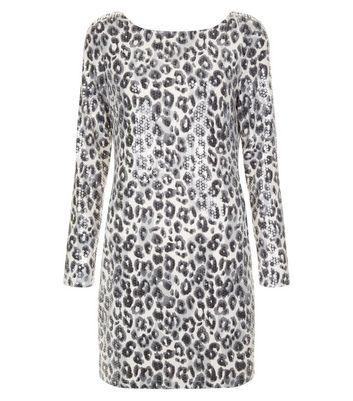 Mela White Leopard Print Bodycon Dress New Look