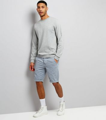 Charcoal Grey Slim Leg Chino Shorts New Look