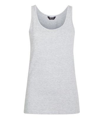 Grey Scoop Neck Vest New Look