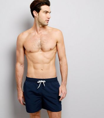 Navy Swim Shorts New Look