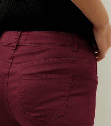 Dark Purple Super Skinny Ankle Grazer Jeans New Look