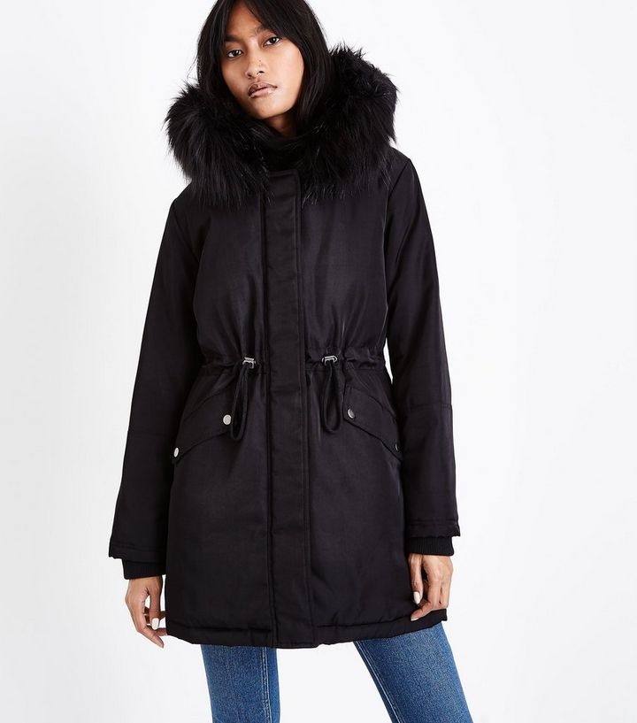 e156343d3068 Home · Black Faux Fur Lined Hooded Parka. ×. ×. ×. Shop the look
