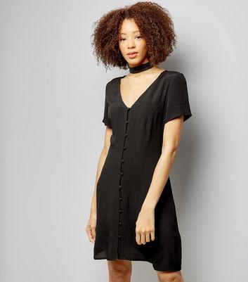 Button Front Short Dresses