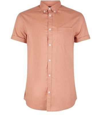 Pink Cotton Short Sleeve Shirt New Look