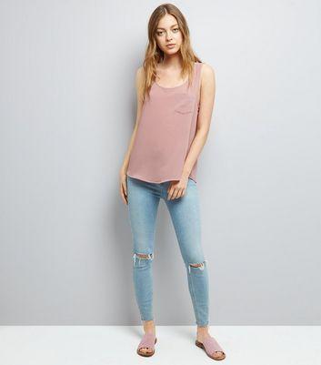 JDY Mid Pink V Neck Shirt New Look