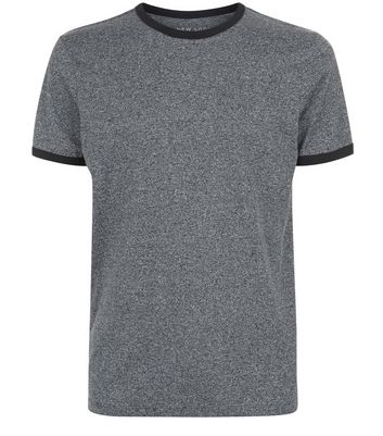 Light Grey Marl Ringer T-Shirt New Look