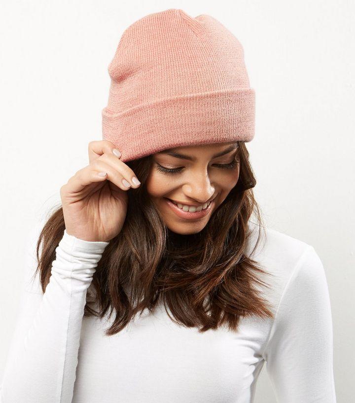 bonnet femme rose pale