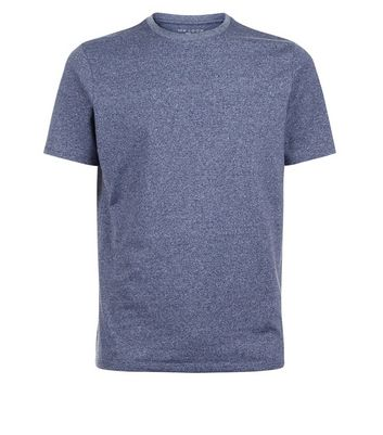 Blue Muscle Fit Crew Neck T-Shirt New Look