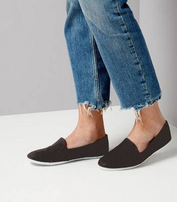Black Slip On Shoes | New Look