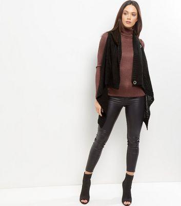 Mela Black Button Front Gilet New Look