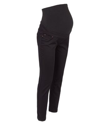 Materntiy Black Over Bump Jeggings New Look