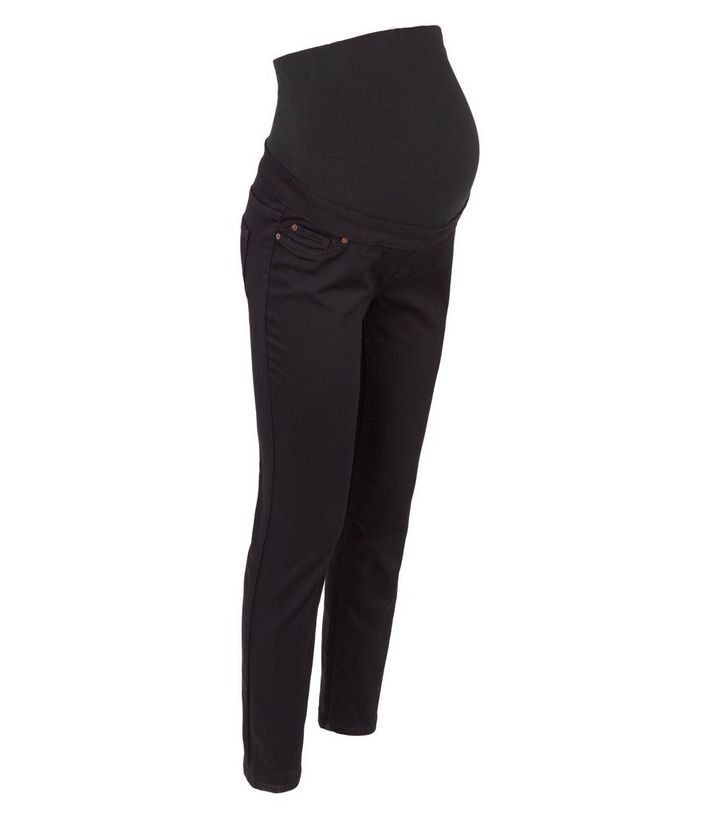 5325d3d2cd930 Maternity Black Over Bump Jeggings | New Look