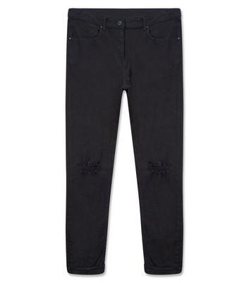 Black Ripped Knee Skinny Jeans New Look