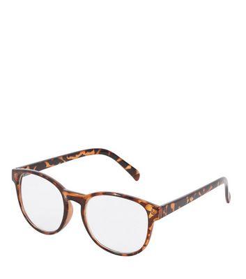 Brown Tortoiseshell Glasses New Look