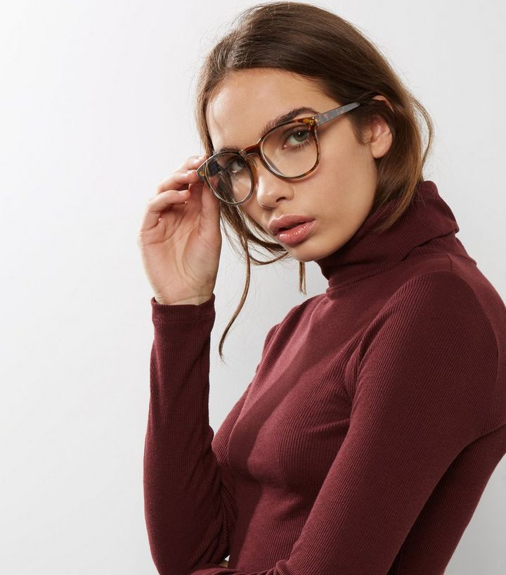 91fbe13570 Brown Faux Tortoises Glasses New Look. Hard Candy Womens Prescription ...