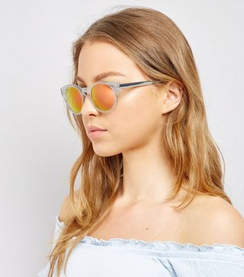 Transparent Holographic Lense Sunglasses New Look