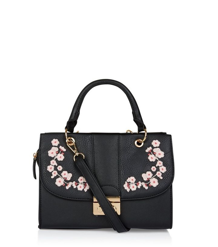 biggest selection timeless design best prices Black Floral Embroidered Hand Bag Add to Saved Items Remove from Saved Items