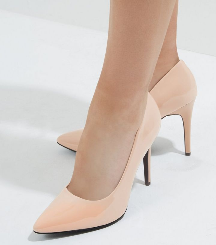 a0715656fff Wide Fit Pink Patent Pointed Court Shoes Add to Saved Items Remove from  Saved Items