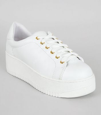 White Chunky Trainers | New Look
