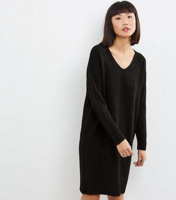 Robe pull mi longue noire à col V Ajouter à la Wishlist Supprimer de la Wishlist