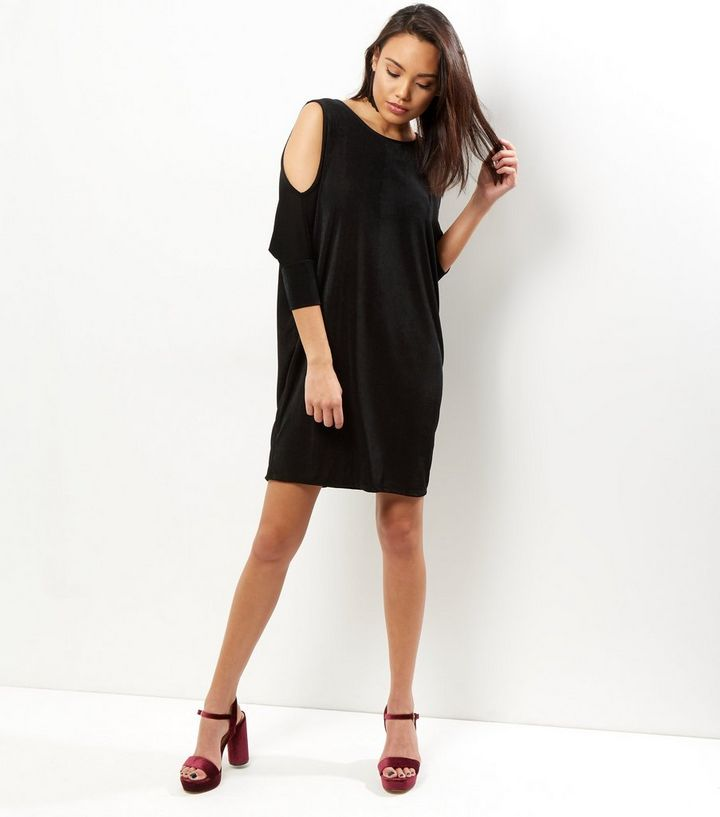 2172b8aa ... Black Cold Shoulder Drape Tunic Dress. ×. ×. ×. Shop the look