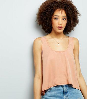Noisy May Orange Cropped Sleeveless Top New Look