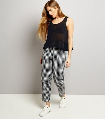 Noisy May Black Frill Hem Knitted Top New Look