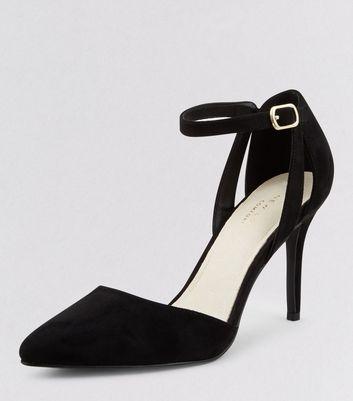 Black Comfort Pointed Heels New Look