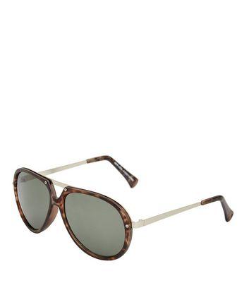 Brown Tortoiseshell T-Bar Sunglasses New Look