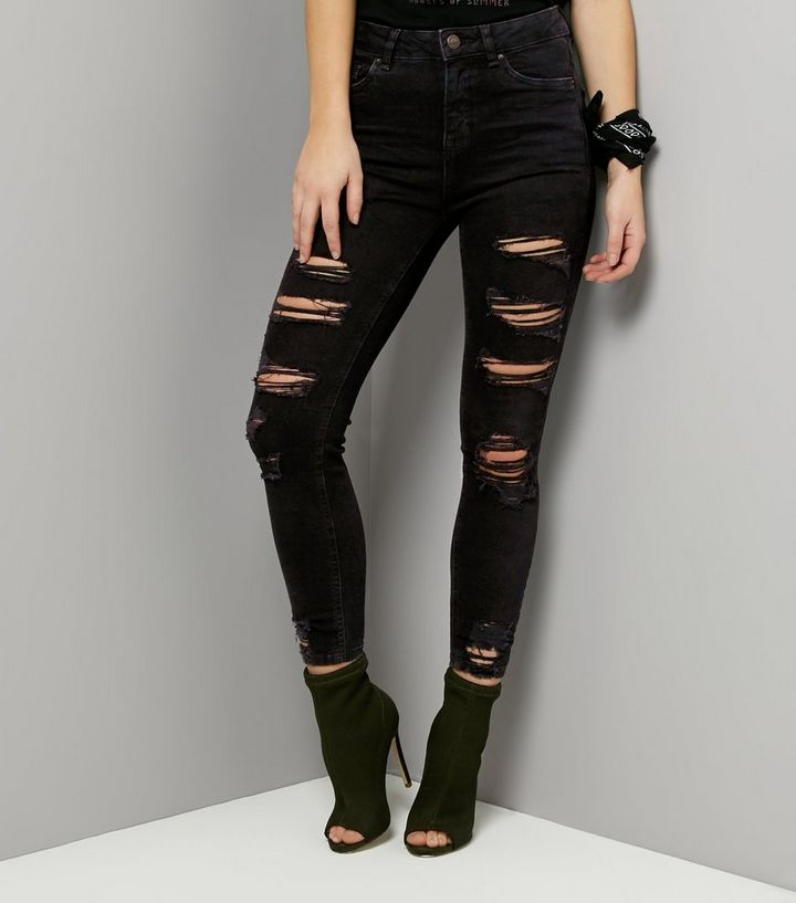 meet popular style offer discounts Black Ripped Skinny Jenna Jeans Add to Saved Items Remove from Saved Items