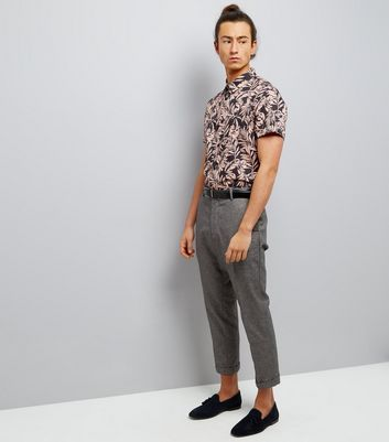 Pink Tropical Floral Print Short Sleeve Shirt New Look
