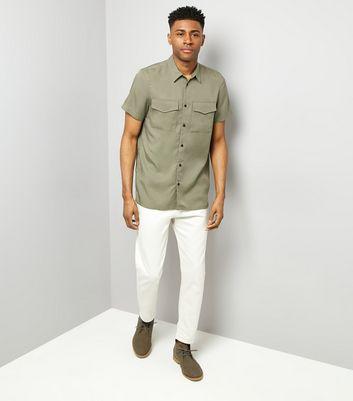 Khaki Short Sleeve Utility Shirt New Look