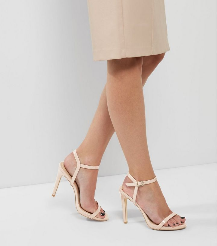 7faaa32d594 Nude Patent Ankle Strap Heeled Sandals Add to Saved Items Remove from Saved  Items