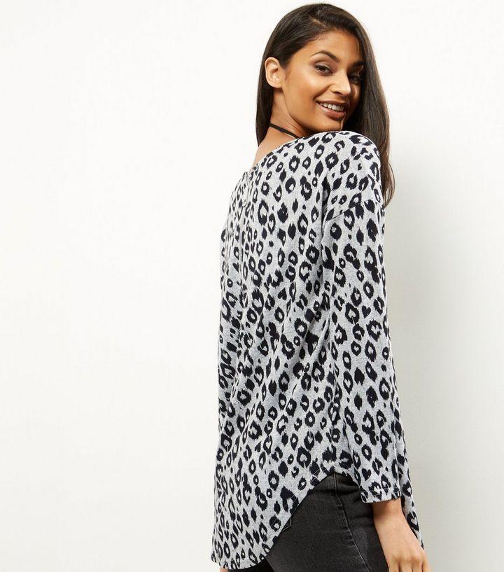 80b25fed8749b ... QED Light Grey Animal Print Long Sleeve Top. ×. ×. ×. Shop the look
