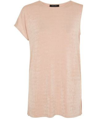 Shell Pink Single Sleeve Top New Look